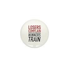 Losers Complain Winners Train Mini Button (100 pac