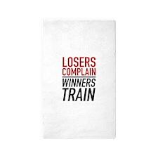 Losers Complain Winners Train 3'x5' Area Rug