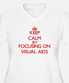 Keep Calm by focusing on Visual Plus Size T-Shirt