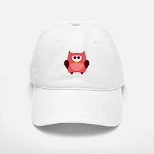 Owl (Red) Baseball Baseball Cap