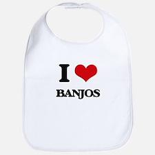 I Love Banjos Bib
