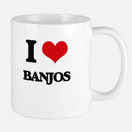 I Love Banjos Mugs