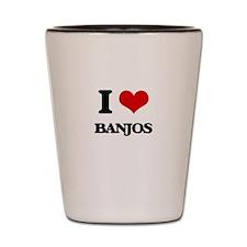I Love Banjos Shot Glass