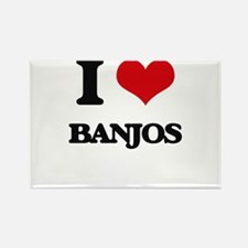I Love Banjos Magnets