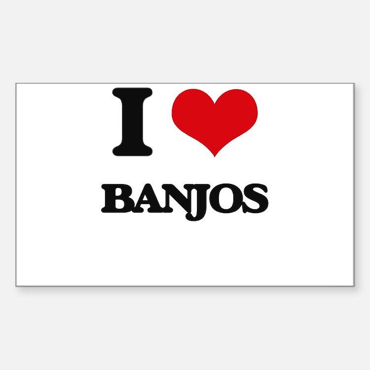 I Love Banjos Decal