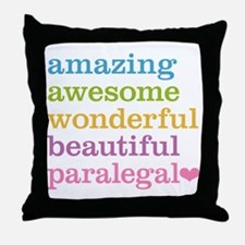 Awesome Paralegal Throw Pillow