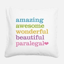 Awesome Paralegal Square Canvas Pillow