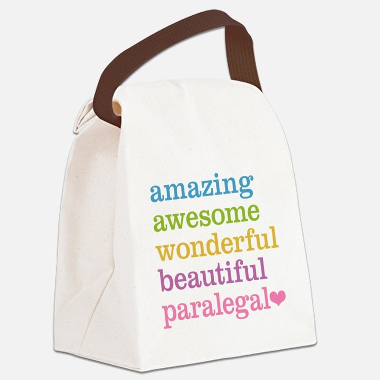 Awesome Paralegal Canvas Lunch Bag