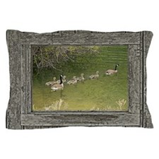 Old window canadian geese Pillow Case