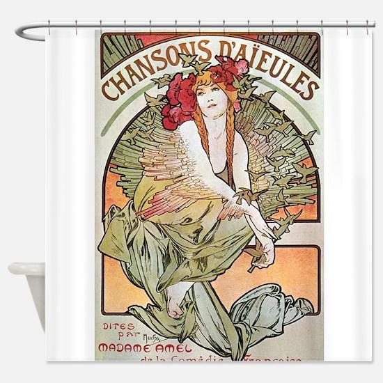 CHANSONS D'AIEULES, C.1898.JPG Shower Curtain