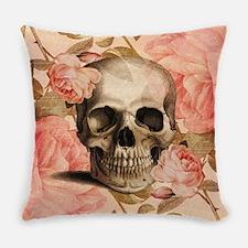 Vintage Rosa Skull Collage Master Pillow