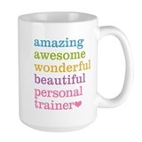 Personal trainer Large Mugs (15 oz)