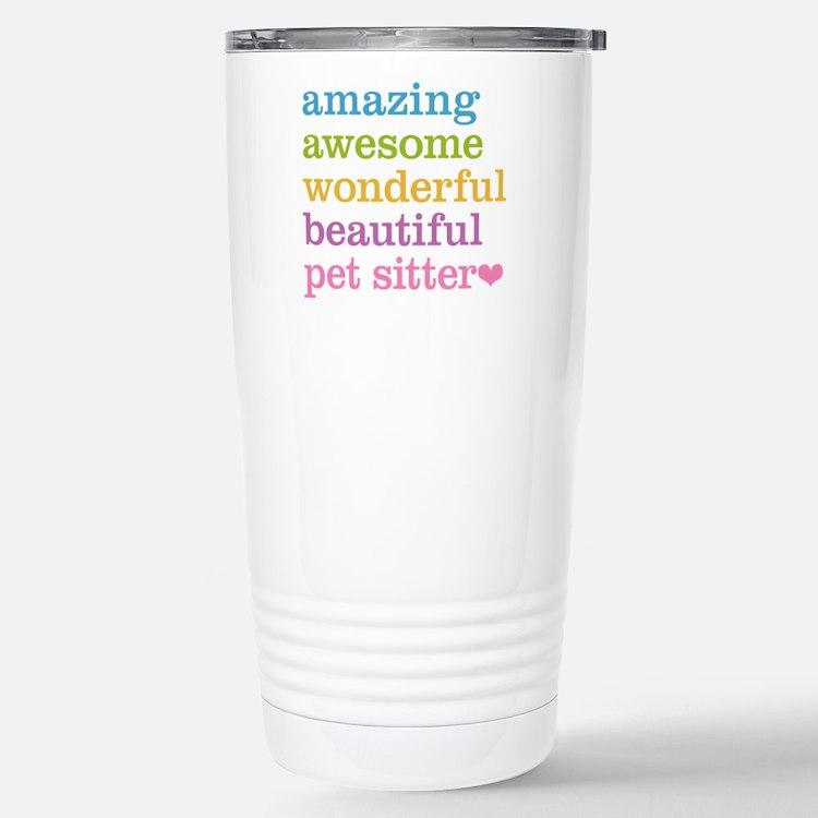 Pet Sitter Stainless Steel Travel Mug