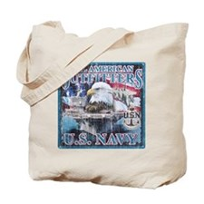 All American Outfitters: Navy Tote Bag