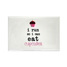 I run so I can EAT Cupcakes Magnets