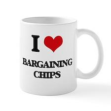 I Love Bargaining Chips Mugs