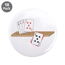 """Cribbage Hand 3.5"""" Button (10 pack)"""