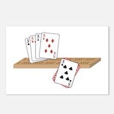 Cribbage Hand Postcards (Package of 8)