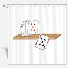 Cribbage Hand Shower Curtain