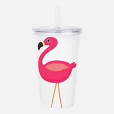 Pink Flamingo 3 Acrylic Double-wall Tumbler
