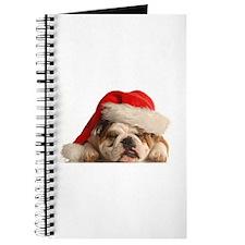 Christmas Bulldog Journal
