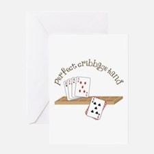 Perfect Cribbage Hand Greeting Cards