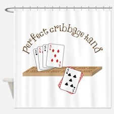 Perfect Cribbage Hand Shower Curtain