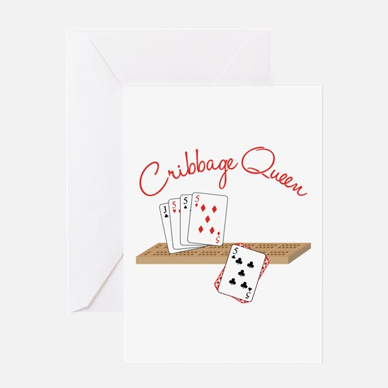 Cribbage Queen Greeting Cards