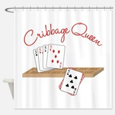 Cribbage Queen Shower Curtain