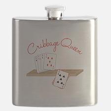 Cribbage Queen Flask