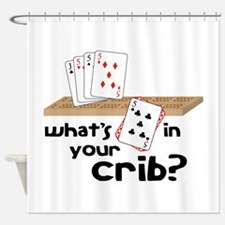 Whats in Your Crib? Shower Curtain