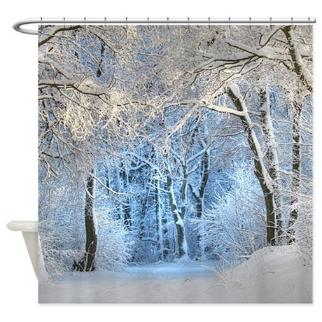 Brighten up your bathroom with unique Winter Shower Curtains from CafePress! From modern curtain designs to patterned black and white shower curtains, you'll find the perfect one for you! Look through thousands of designs of bathroom curtains .