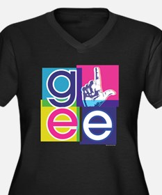 Glee El Women's Plus Size V-Neck Dark T-Shirt