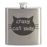 My cat is my spirit animal Flask Bottles