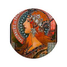 """SAVONNERIE DE BAGNOLET, 1897.JPG 3.5"""" Button"""