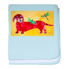 Doxie Dragonflies baby blanket