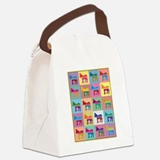 Pop Art Democrat Donkey Logo Canvas Lunch Bag