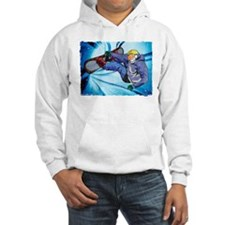 Snowboarder in Edgy Snow Storm Jumper Hoody