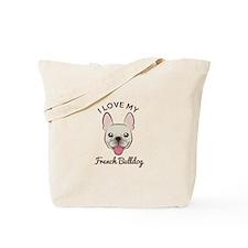 I Love My French Bulldog Tote Bag