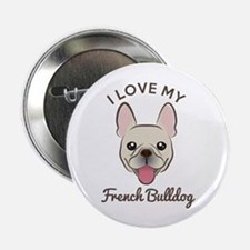 "I Love My French Bulldog 2.25"" Button (10 Pac"