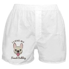 I Love My French Bulldog Boxer Shorts