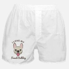 I Love My French Bulldog Boxer Shorts