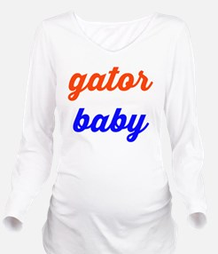 Gator Baby Long Sleeve Maternity T-Shirt