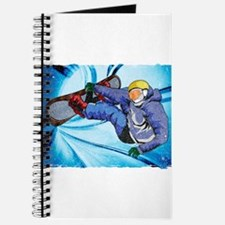 Snowboarder in Edgy Snow Storm Journal