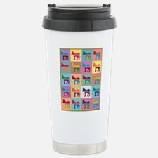 Pop Art Democrat Donkey Stainless Steel Travel Mug