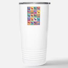 Pop Art Democrat Donkey Travel Mug