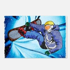 Snowboarder in Edgy Snow Postcards (Package of 8)
