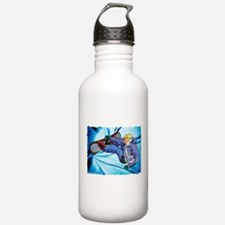 Snowboarder in Edgy Sn Water Bottle