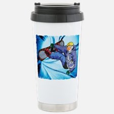 Snowboarder in Edgy Sno Travel Mug