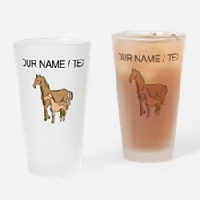 Custom Horse And Foal Drinking Glass